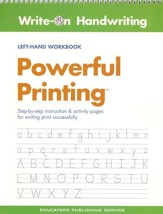 Powerful Printing Left-Handed Workbook