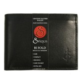 Bifold Wallet with Center Flap, Black