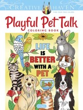 Creative Haven Playful Pet Talk Coloring Book