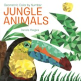 Geometric Color by Number: Jungle Animals