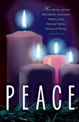 Peace Advent Candle Sunday #4 Bulletins, 50 (Isaiah 9:6, CEB)