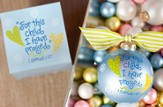 For This Child I Have Prayed, Blue, Ornament to Personalize, Gift Boxed