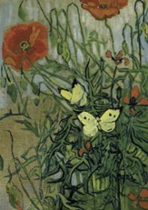 Van Gogh's Butterflies and Poppies Notebook