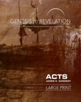Acts Participant Book, Large Print (Genesis to Revelation Series)