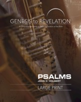 Psalms Participant Book, Large Print (Genesis to Revelation Series)