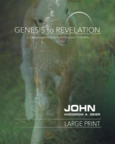 John Participant Book, Large Print (Genesis to Revelation Series)