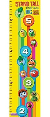 VeggieTales Growth Chart 4 Foot Vertical Banner