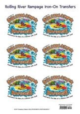 Rolling River Rampage: Iron-On Transfers (Pkg of 12)
