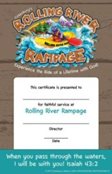 Rolling River Rampage: Leader Recognition Certificates (Pkg of 12)