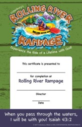 Rolling River Rampage: Student Certificates (Pkg of 48)