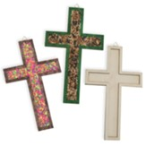 Rolling River Rampage: Raised Edge Wood Craft Cross (Pkg of 12)