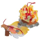 Rolling River Rampage: Campfire Suncatcher Craft Kit (Pkg of 12)