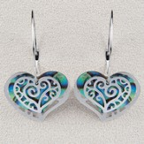 Heart Hoops, Wild Pearle Earrings