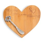A Lasting Love is a True Blessing Cheese Board with Spreader