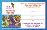24/7 VBS: Leader Certificates, pkg of 12