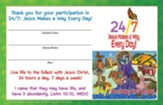 24/7 VBS: Student Certificates, pkg of 24