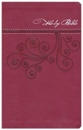 NKJV Ultraslim Bible, Imitation Leather, Cranberry  - Slightly Imperfect
