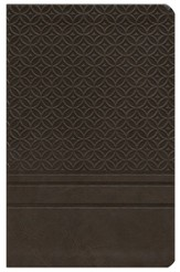 KJV Personal-Size Giant-Print Reference Bible,  Imitation Leather-espresso