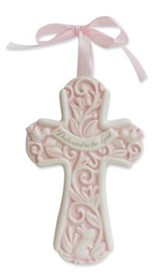 Dedicated to the Lord Wall Cross, Pink