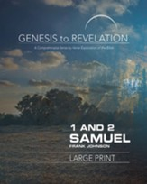1&2 Samuel, Participant Book, Large Print (Genesis to Revelation Series)