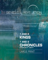 1&2 Kings/1&2 Chronicles, Participant Book, Large Print (Genesis to Revelation Series)