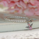 Pearl and Crystal Angel Bracelet