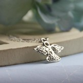 Sterling Silver Angel Charm Necklace