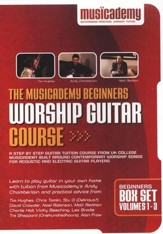 The Musicademy Beginners Worship Guitar Course, 3-DVD Set