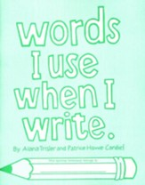 Words I Use When I Write, Grades 1-2 (Homeschool Edition)