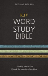 KJV, Word Study Bible, Ebook, Red Letter Edition: 1,700 Key Words that Unlock the Meaning of the Bible - eBook