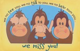 We Miss You! Monkey Postcards, 25