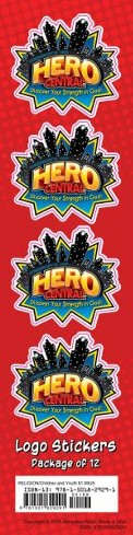 Hero Central: Logo Stickers, pkg of 24