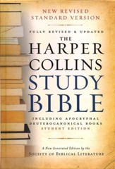 NRSV HarperCollins Study Bible with Apocrypha, Student Edition, Revised, hardcover - Slightly Imperfect