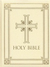 The Catholic Family Bible, (RSV) Ivory Hardcover   - Slightly Imperfect