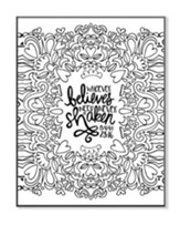 Whoever Believes, Coloring Wall Art, Small