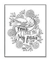 My Peace, Coloring Wall Art, Small