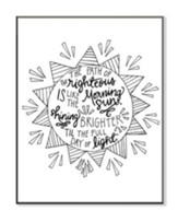 The Path Is Righteous, Coloring Wall Art, Small