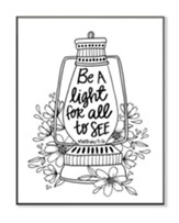 Be A Light, Coloring Wall Art, Small