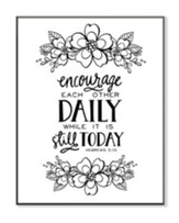 Encourage Each Other Daily, Coloring Wall Art, Small