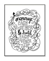 Encourage and Build Each Other, Coloring Wall Art, Large