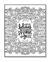 Whoever Believes, Coloring Wall Art, Large