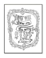 You Will Show Me the Way Of Life, Coloring Wall Art, Large