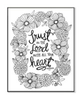 Trust In the Lord, Coloring Wall Art, Large