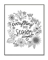 For Everything There Is A Season, Coloring Wall Art, Large