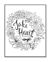 Take Heart, Coloring Wall Art, Large