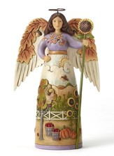 Autumn Leaf Angel Figure