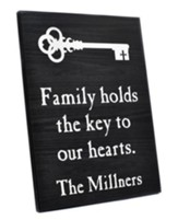 Personalized, Lithograph Plaque, Key To Our Hearts,  Black