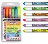 Gel Bible Highlighters, Pack of 6