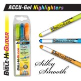 Gel Bible Highlighter, 3 Piece Set, Yellow, Blue, Orange
