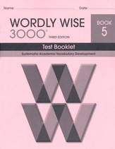 Wordly Wise 3000 Book 5 Test 3rd Ed.